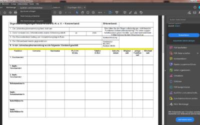 Orgabogen-PDF am Computer ausfüllen
